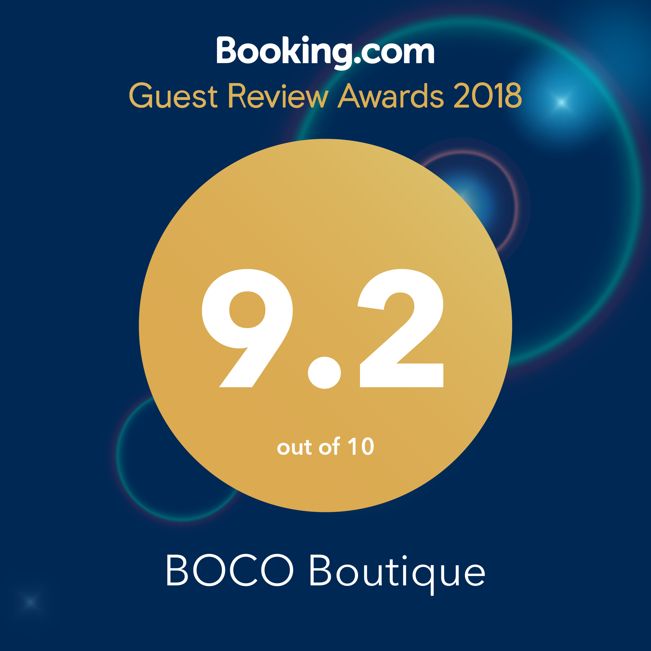 2018 Booking.com Award